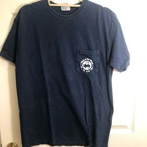 Comfort Colors Chi Omega Navy Blue T-Shirt.